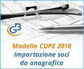 Modello CUPE 2018: importazione soci da anagrafica
