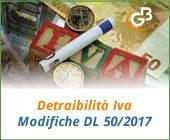 Detraibilità Iva - Modifiche DL 50/2017