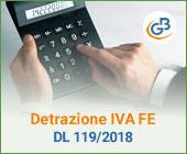 Detrazione IVA fattura elettronica: DL 119/2018