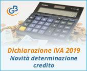 Dichiarazione IVA 2019: novità per la determinazione del credito