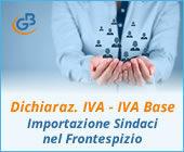 Dichiarazione IVA e IVA Base 2019: importazione Sindaci nel Frontespizio