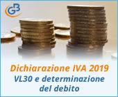 Dichiarazione IVA 2019: VL30 e determinazione del debito
