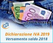 Dichiarazione IVA 2019: versamento saldo 2018