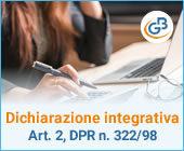 Dichiarazione integrativa (art. 2, co. 8-ter, DPR n. 322/98)