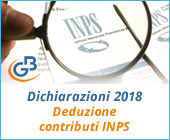 Dichiarazioni 2018: Deduzione contributi INPS