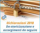 Dichiarazioni 2018: De-storicizzazione e accorgimenti da seguire