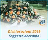 Dichiarazioni 2019: presentazione redditi del soggetto deceduto