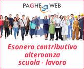 Paghe GB Web 2017: esonero contributivo alternanza scuola - lavoro