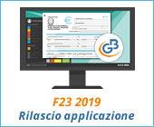 F23 2019: rilascio applicazione