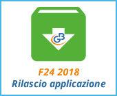 F24 2018: rilascio applicazione