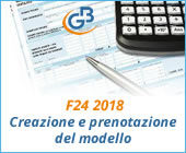 F24 2018: creazione e prenotazione del modello
