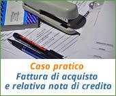 Caso pratico: fattura di acquisto e relativa nota di credito