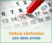 Fattura elettronica con data errata: caso pratico