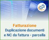 Fatturazione: Duplicazione documenti e Nota di credito da fattura - parcella