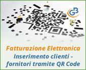 Fatturazione Elettronica: inserimento clienti - fornitori tramite QR Code