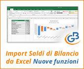 Import Saldi di Bilancio da Excel: nuove funzioni