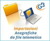 Importazioni: anagrafiche da file telematico