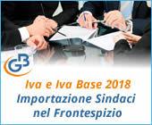 Dichiarazione Iva e Iva Base 2018: importazione Sindaci nel Frontespizio