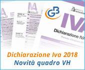 Dichiarazione Iva 2018: novità quadro VH