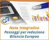 Nota Integrativa 2018: passaggi per redazione Bilancio Europeo