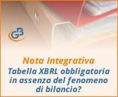 Nota Integrativa: la tabella XBRL è obbligatoria in assenza del fenomeno di bilancio?