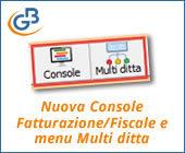 Nuova Console Fatturazione/Fiscale e menu Multi ditta