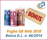 Paghe GB Web 2018: Bonus D.L. n. 66/2014