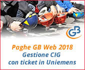 Paghe GB Web 2018: gestione CIG con ticket in Uniemens