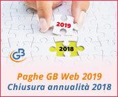 Paghe GB Web 2019: Chiusura annualità 2018