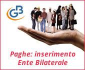 Paghe GB Web 2017: inserimento Ente Bilaterale