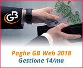 Paghe GB Web 2018: gestione 14/ma