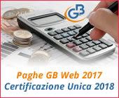 Paghe GB Web 2017: Modello Certificazione Unica 2018