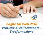 Paghe GB Web 2018: Pratiche di collocamento - Trasformazione