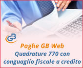 Paghe 2019: Quadrature 770 con conguaglio fiscale a credito