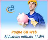 Paghe GB Web 2018: Riduzione edilizia 11.5%