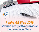 Paghe GB Web 2019: Stampa prospetto contabile con campi settore