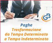 Paghe GB Web 2018: Trasformazione da Tempo Determinato a Tempo Indeterminato
