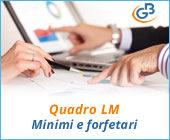 Quadro LM: compilazione contribuente minimo e forfetario