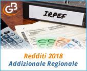 Redditi 2018: Addizionale Regionale