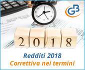 Redditi 2018: Correttiva nei termini