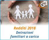 Redditi 2018: detrazioni familiari a carico