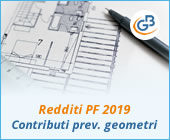 Redditi PF 2019: contributi previdenziali geometri