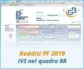Redditi PF 2019: contributi IVS nel quadro RR