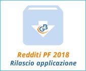 Redditi Persone Fisiche 2018: rilascio applicazione
