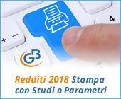 Redditi 2018: stampa completa del modello con Studi di Settore o Parametri