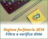Regime forfetario 2018: filtro e verifica ditte