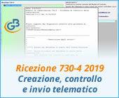 Ricezione 730-4 2019: creazione, controllo e invio telematico
