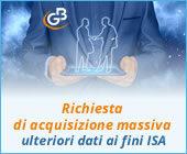 Richiesta di acquisizione massiva degli ulteriori dati ai fini ISA: rilascio applicazione