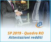 SP 2019 Quadro RO: gestione attestazioni redditi