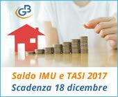 Saldo IMU e TASI 2017: scadenza al 18 dicembre